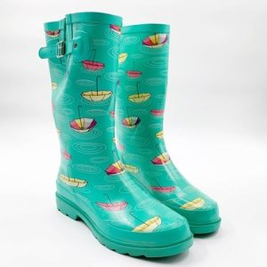 Western Chief Womens Size 8 Tall Rubber Rain Boots
